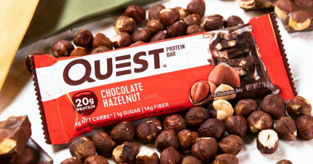 quest chocolate hazelnut bars