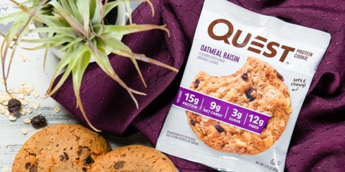 Quest Oatmeal Raisin Protein Cookies 12-Count Only $14.75 Shipped (Just $1.22 Per Cookie)
