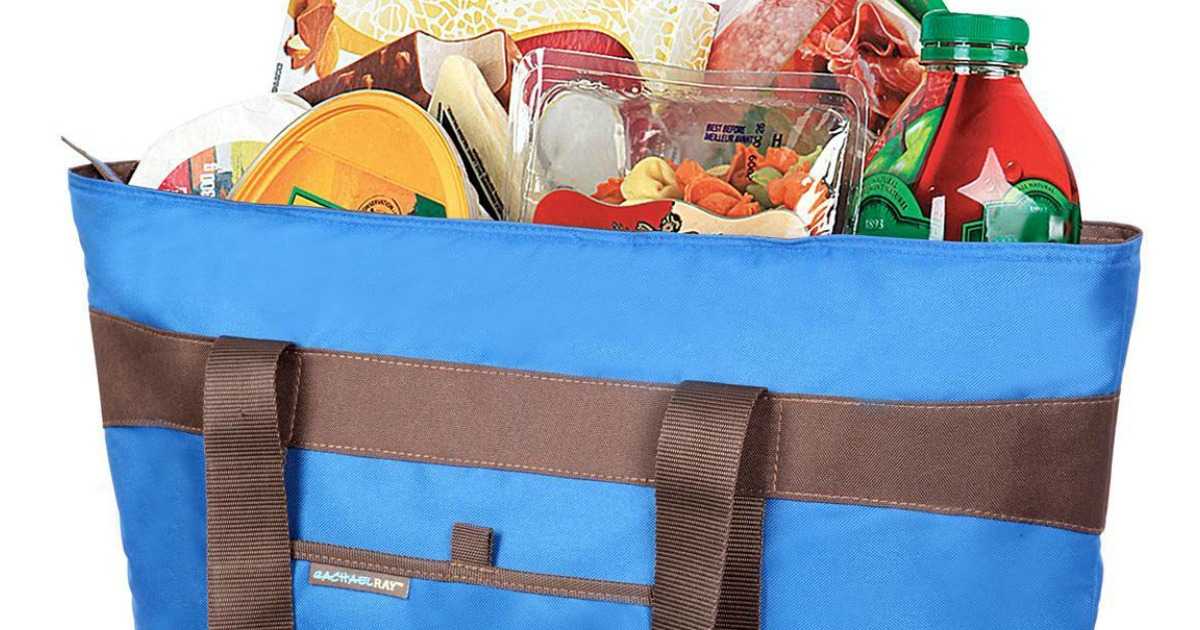 Rachael Ray Thermal Tote with groceries