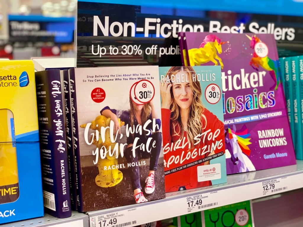 Rachel Hollis books at Target on Shelf