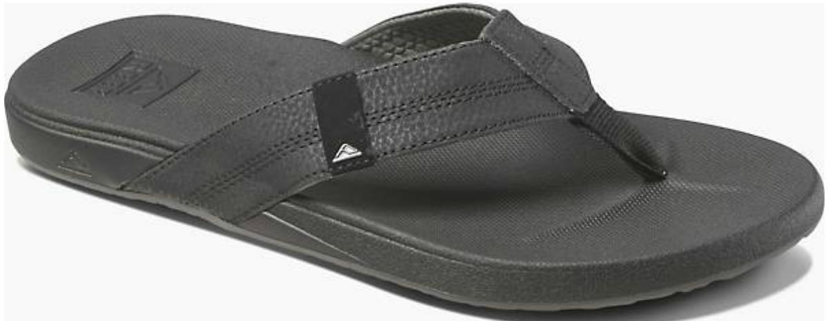 black mens reef sandals