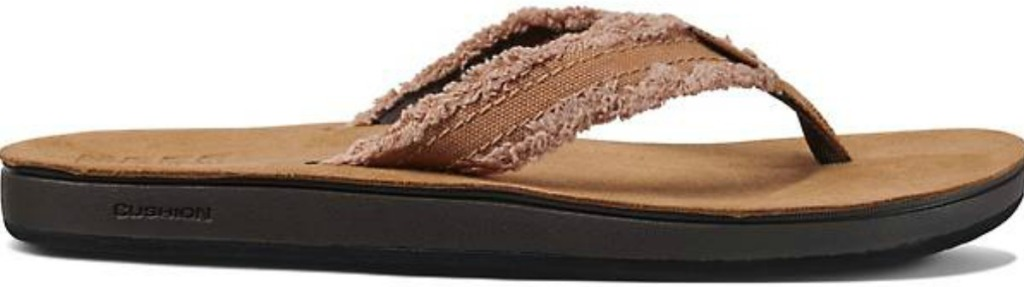 brown reef frayed sandals