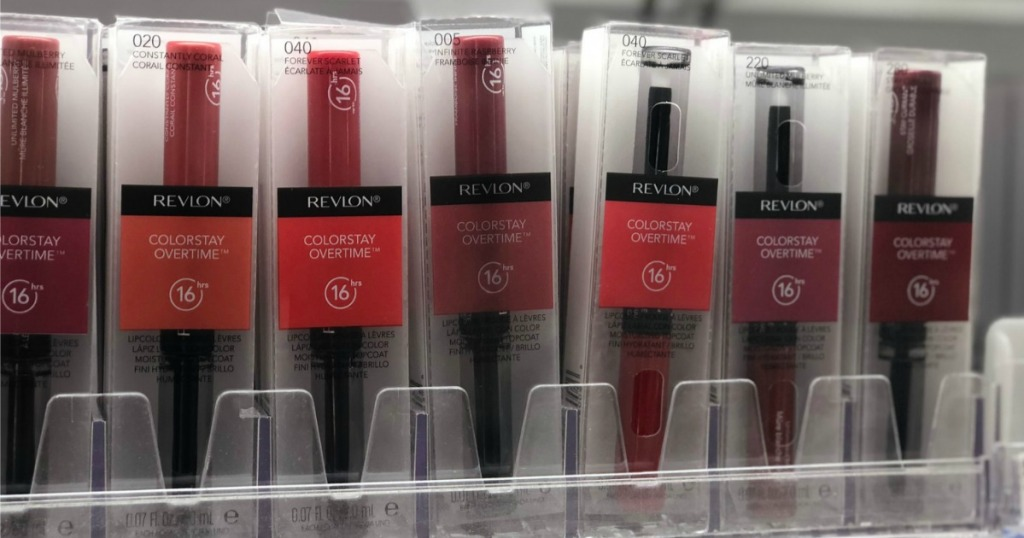 Revlon Colorstay Overtime in cosmetics display