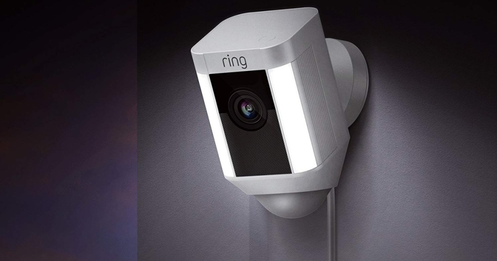 white ring security camera