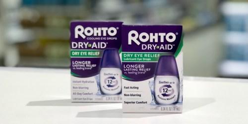 New $5/1 Rohto Coupon = Eye Drops Just $3.32 Each at Target Starting 8/2 (Regularly $10)
