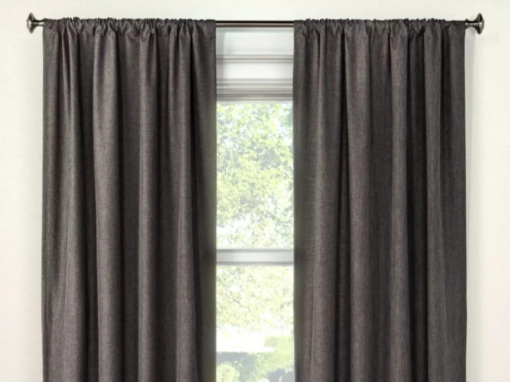 "window with Room Essential Lightblocking Curtain Panel 42""x84"""