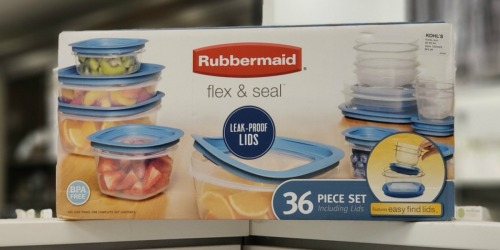 Kohl's Deal | Rubbermaid 36-Piece Flex & Seal Storage Set as Low as $17.49 Each Shipped (Regularly $50)