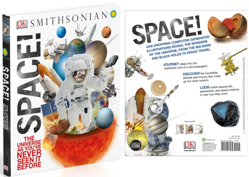 Front and back of large book about Space from Smithsonian