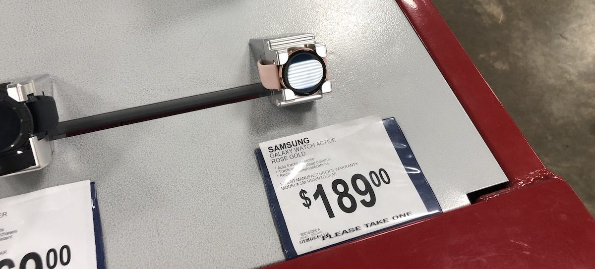 Samsung Galaxy Smart Watch on display at Sam's Club