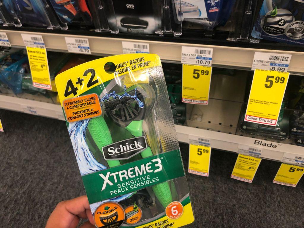 Schick Xtreme3 at CVS $5.99 Sale