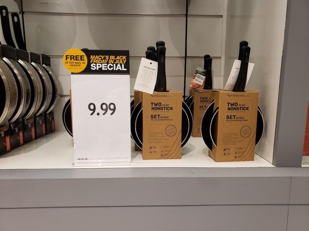 sedona fry pan set at macys on shelf
