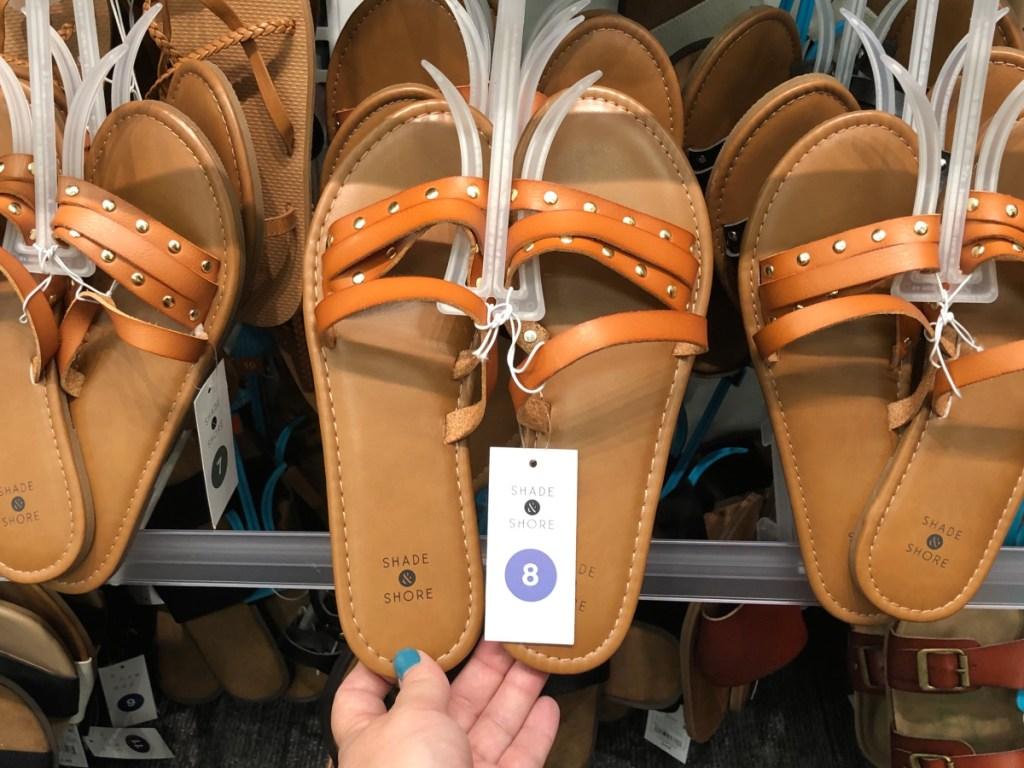 Women's Adira Asymmetrical Four Band Slide Sandals shade and shore