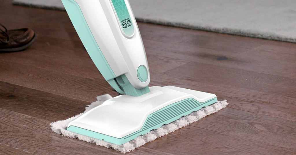 Shark S1000 Steam Mop cleaning dark wood floor