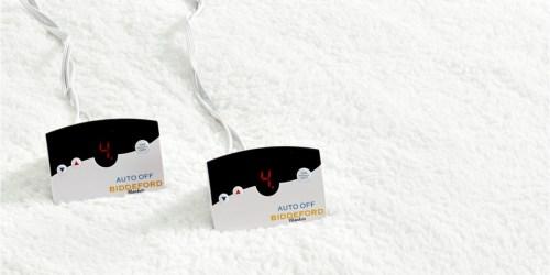 80% Off Biddeford Sherpa Reversible Heated Mattress Pads at Macy's