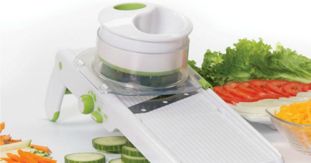 Smart Slice Mandoline next to veggies