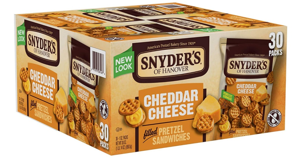 big box of snyders pretzel sandwiches