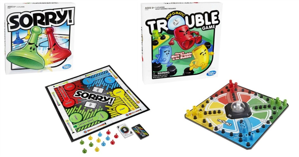 Sorry Or Trouble Board Game