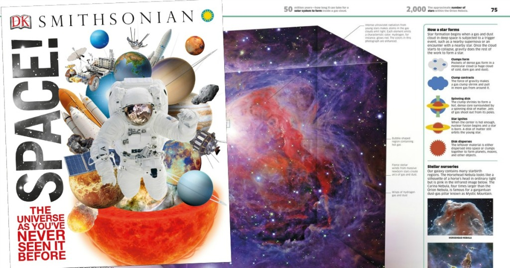 Smithsonian kids Science book about space with an astronaut