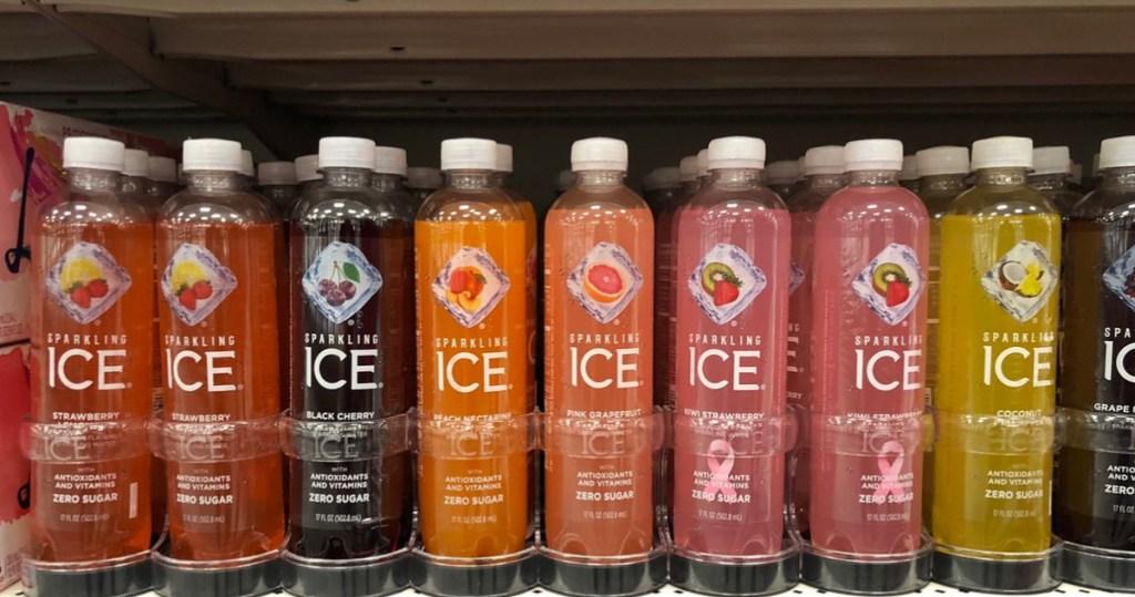bottles of sparkling ice