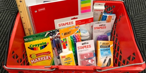 Staples School Supply Deals Starting 7/21 (+ $5 Off $25 Purchase)