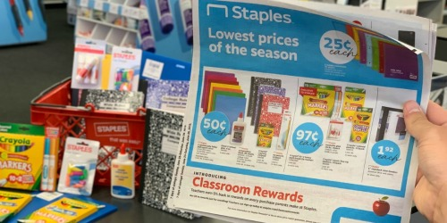 $5-$1000 Staples Mystery Reward (Check Your Inbox) – Valid In-Store Only