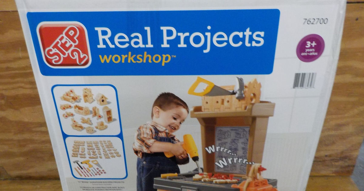 Step2 Real Projects Toy Workshop With Tools box