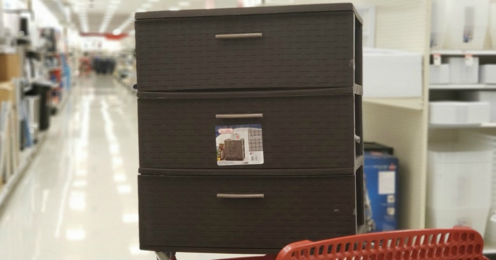 3-drawer shelving storage in store