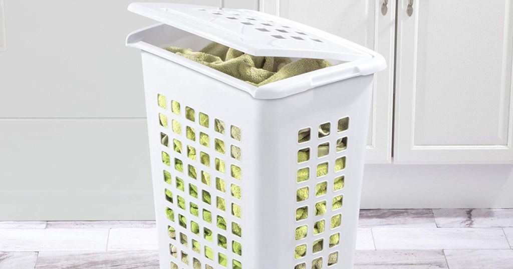 sterlite laundry hamper with lid