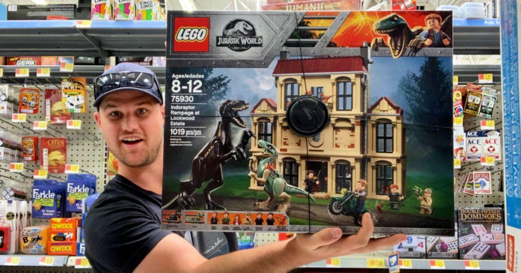 stetson with lego jurassic world at walmart