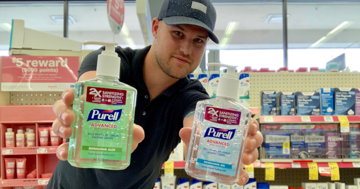 Stetson holding original and aloe purell in walgreens