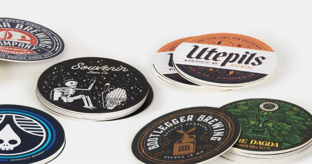 sticker mule custom coasters