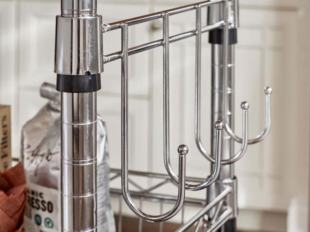 StyleWell Gatefield Chrome Small Kitchen Cart hooks