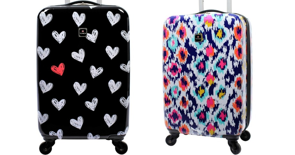 TAG 20 Spinner Patterned Suitcase