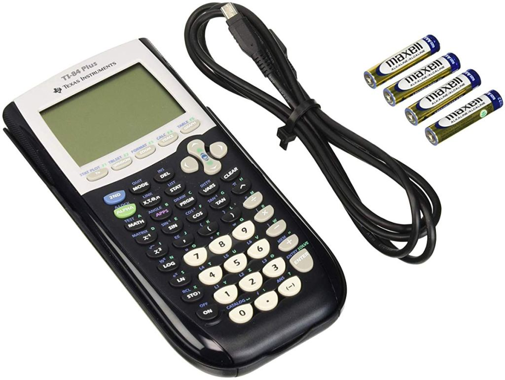 graphing calculator with cord and batteries