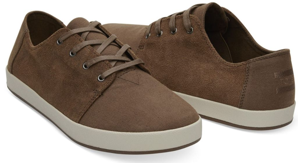 TOMS Bark Oiled Suede Cotton Twill Payton Sneakers for Men