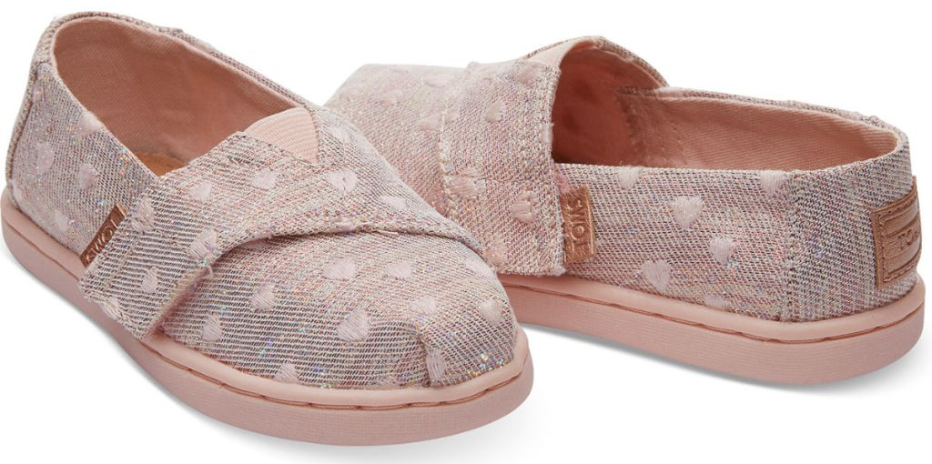 TOMS Classics Rose Cloud Heartsy Glimmer Embroidery