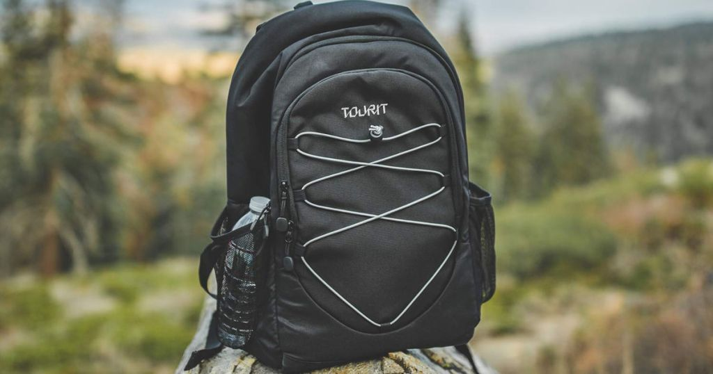 TOURIT Classic Insulated Cooler Backpack in the mountains