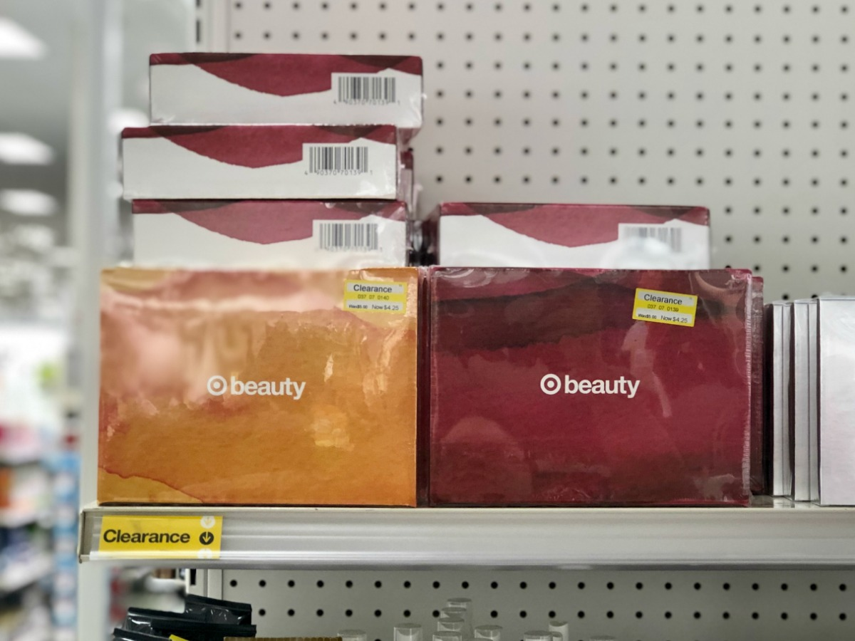 Clearance Beauty Boxes on Target Endcap