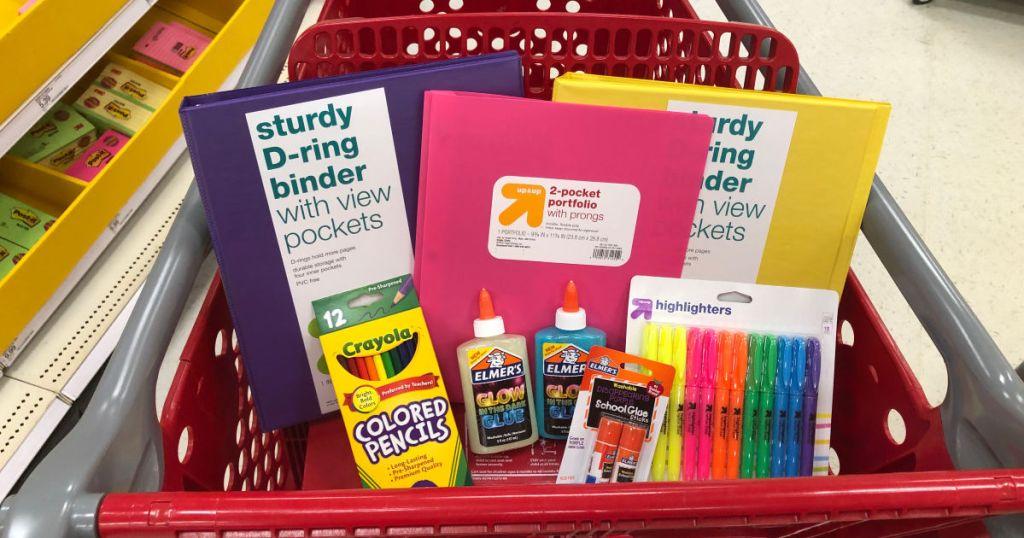 Target Cart with School Supplies