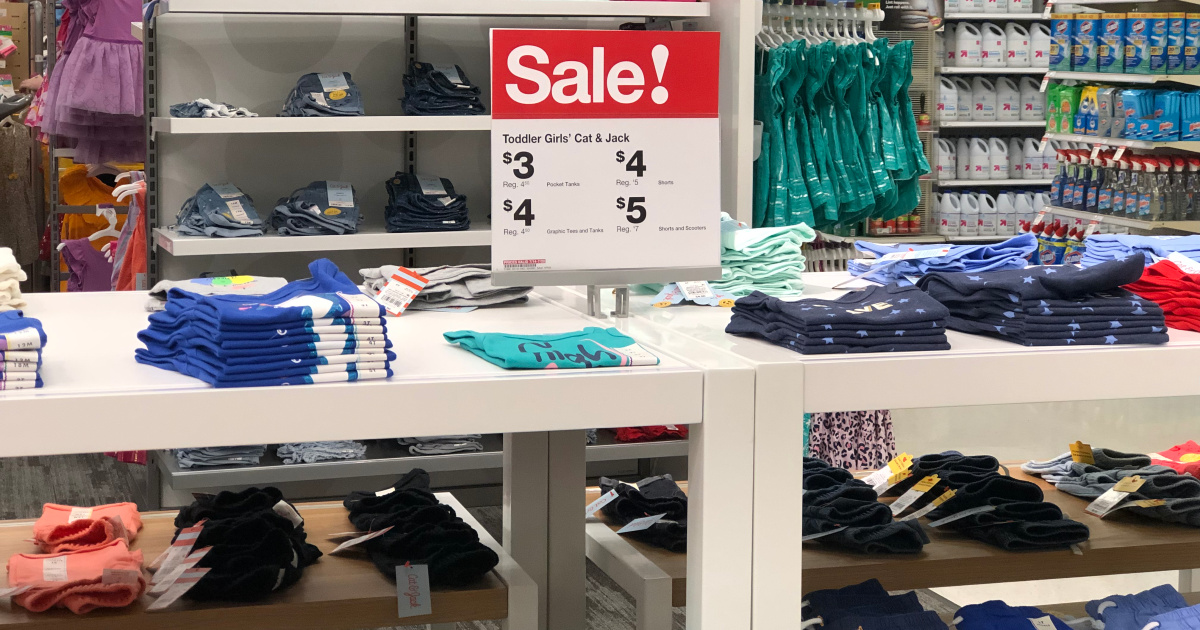 kids clothing on sale at target