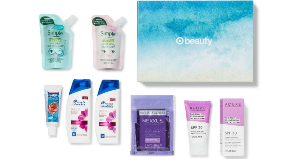 Target July Beauty Box with samples