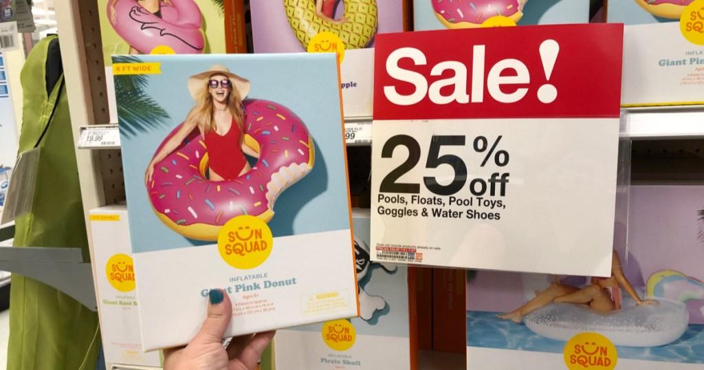 pink donut float at target