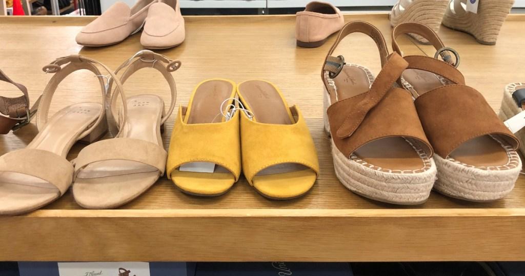Target Women's Shoes sitting on shelf
