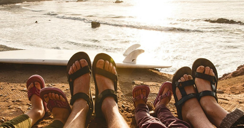 Teva family on beach