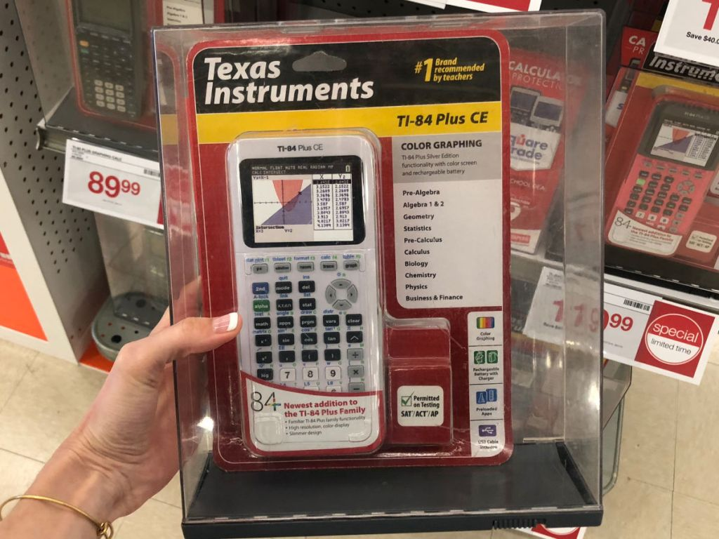 Texas Instruments TI-84 Plus CE Color Graphing Calculator in White