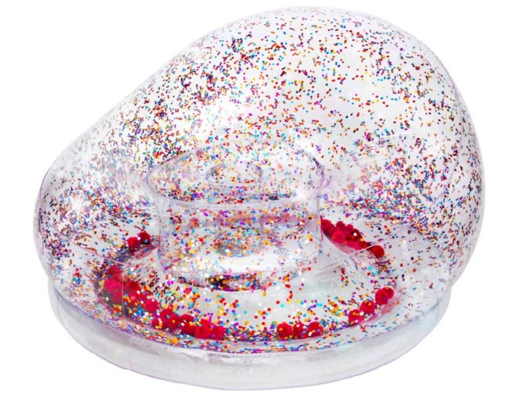 glitter inflatable chair