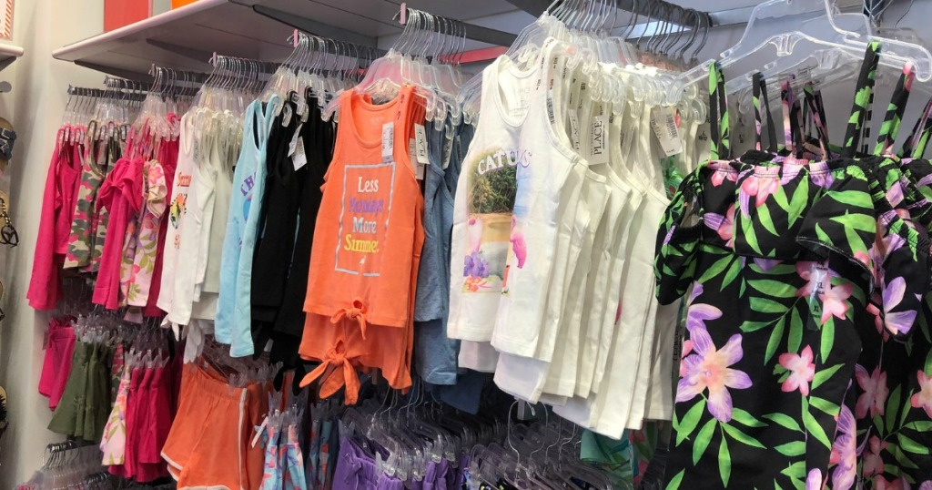 The Children's Place Tanks hanging in store