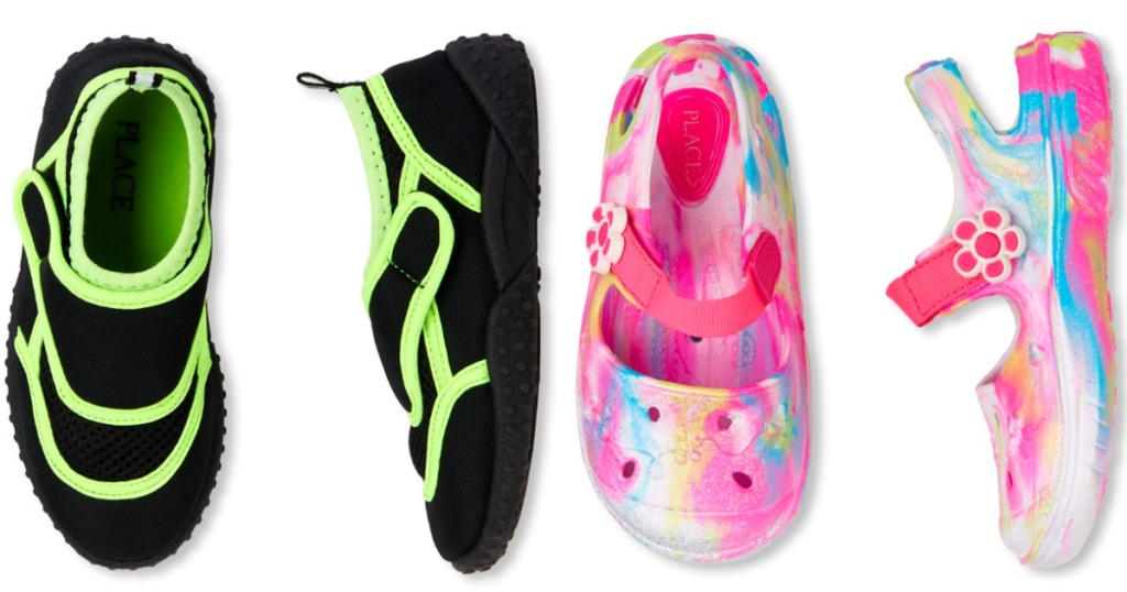 The Children's Place boys and girls water shoes