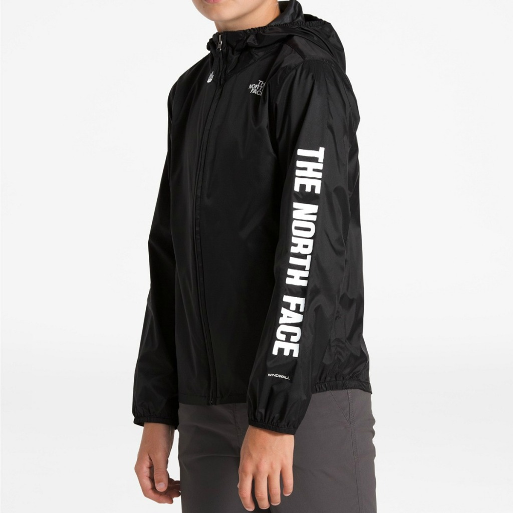 boy wearing The North Face Flurry Jacket