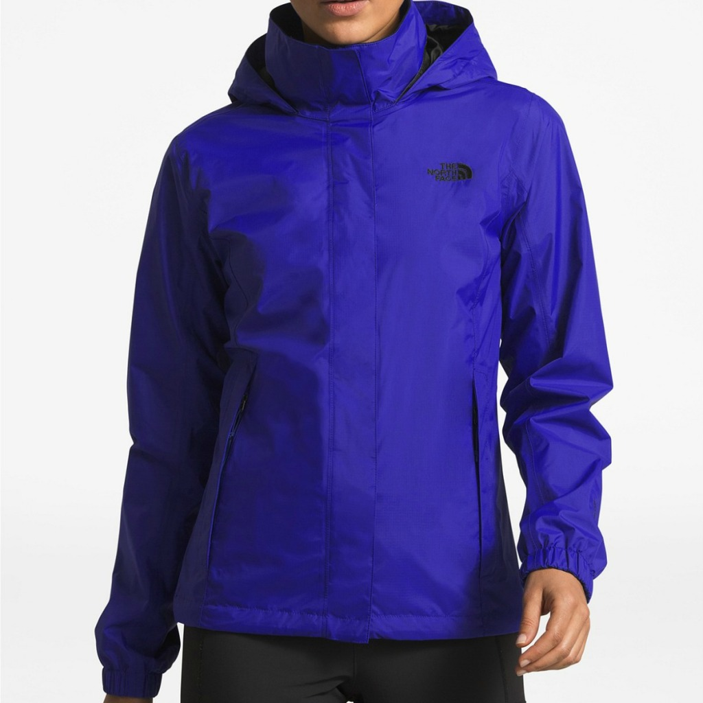 woman wearing purple The North Face Resolve Jacket
